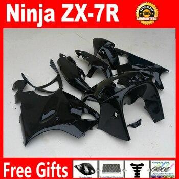 Glossy black motorbike fairing for Kawasaki ZX7R 96 97 98 99 00 01 02 03 fairings ABS plastic ninja 1996-2003 ZX7R fairing kit