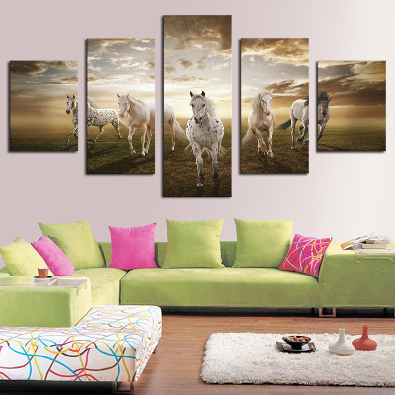 Framed Print horse painting modern home decor wall art picture for ...