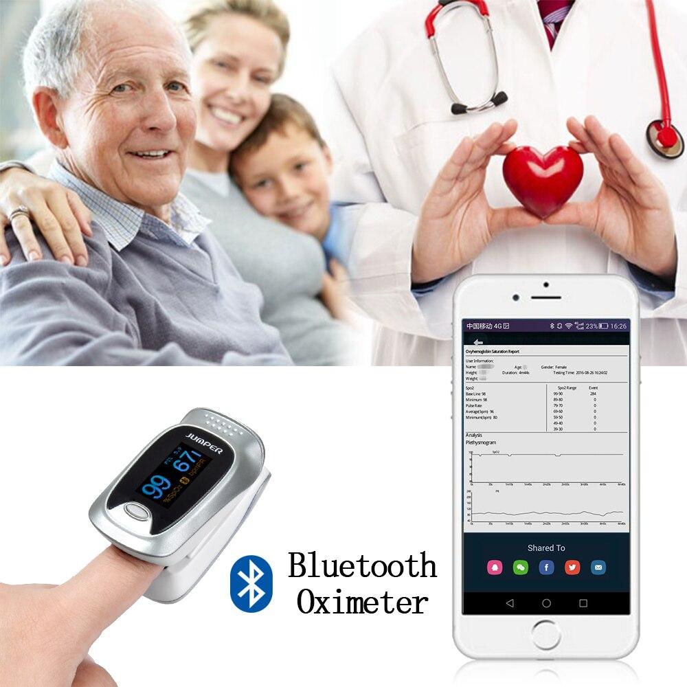 Neue Finger-pulsoximeter Bluetooth Oximetro de dedo Blut Sauerstoff Oximetro ein finger für Gesundheit Pflege