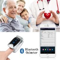 New Finger Pulse Oximeter Bluetooth Oximetro de dedo Blood Oxygen Saturation Oximetro a finger for Health Care