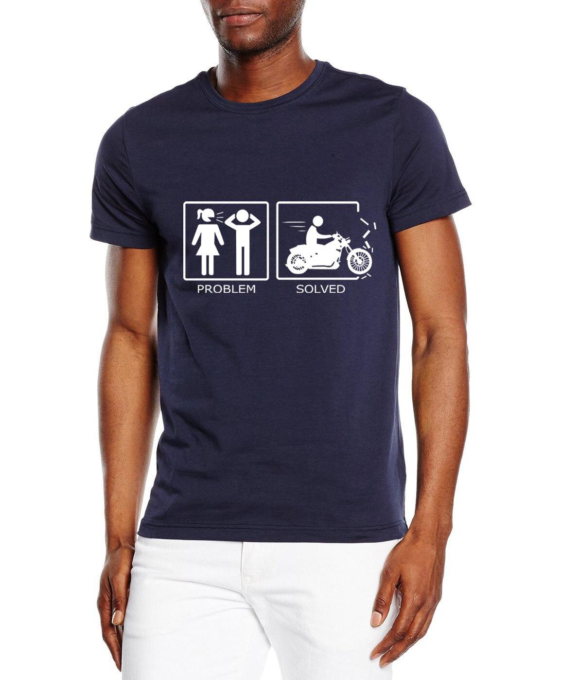 cotton casual t shirt men short sleeve black motorcycle Problem novelty printing man's crossfit t shirts streetwear homme shirt men s casual short sleeve printing black t shirt