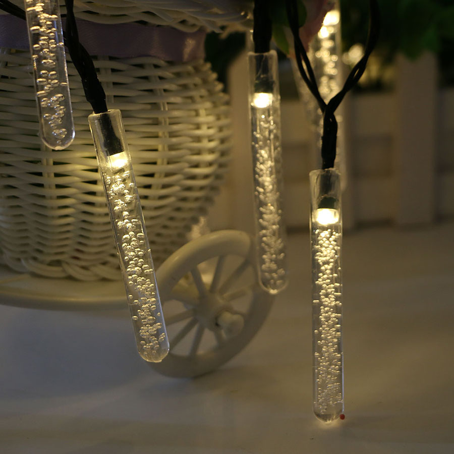 HANMIAO 20 30 LED Solar String Light Outdoor Crystal Bubble Bar Fairy Lights Christmas Waterproof Garden Light for Decoration 06 in Lighting Strings from Lights Lighting