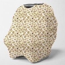 Чехол для кормления многоцелевой шарф для кормления грудью-детские автомобильные чехлы для сидений, чехол для коляски, навес для сидений для мальчиков(Леопардовый принт