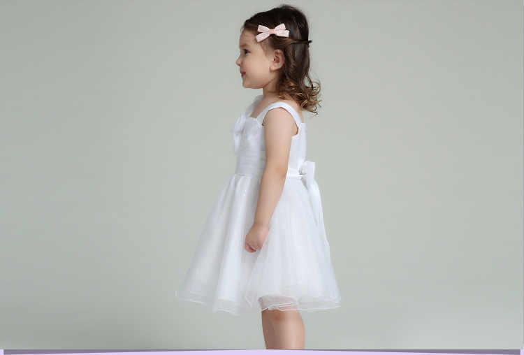 Bianco Formale Della Ragazza Dei Vestiti Dei Bambini Da Sposa Rosso Di Natale Abiti Per Bambini Vestiti Per Le Ragazze Di 2 3 4 6 8 10 12 Anni AKF164054