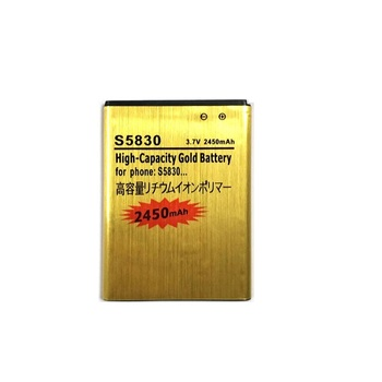 Новый аккумулятор S5830 2450 мАч, Золотой Литий-ионный аккумулятор EB494358VU для Samsung Galaxy Ace S5830 GT-S5830 S5830i i569 i579 s5670
