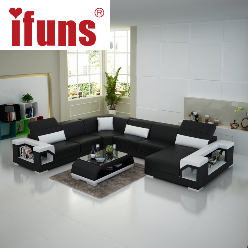 Compare prices on leather couch set online shopping buy for High quality modern furniture