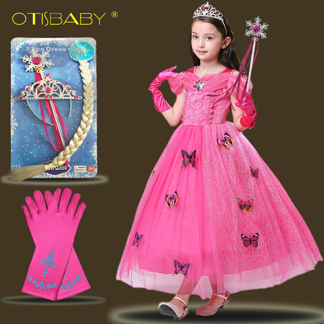 Girls Aurora Princess Dress Butterfly Kids Tulle Dresses for Girls 3 ...