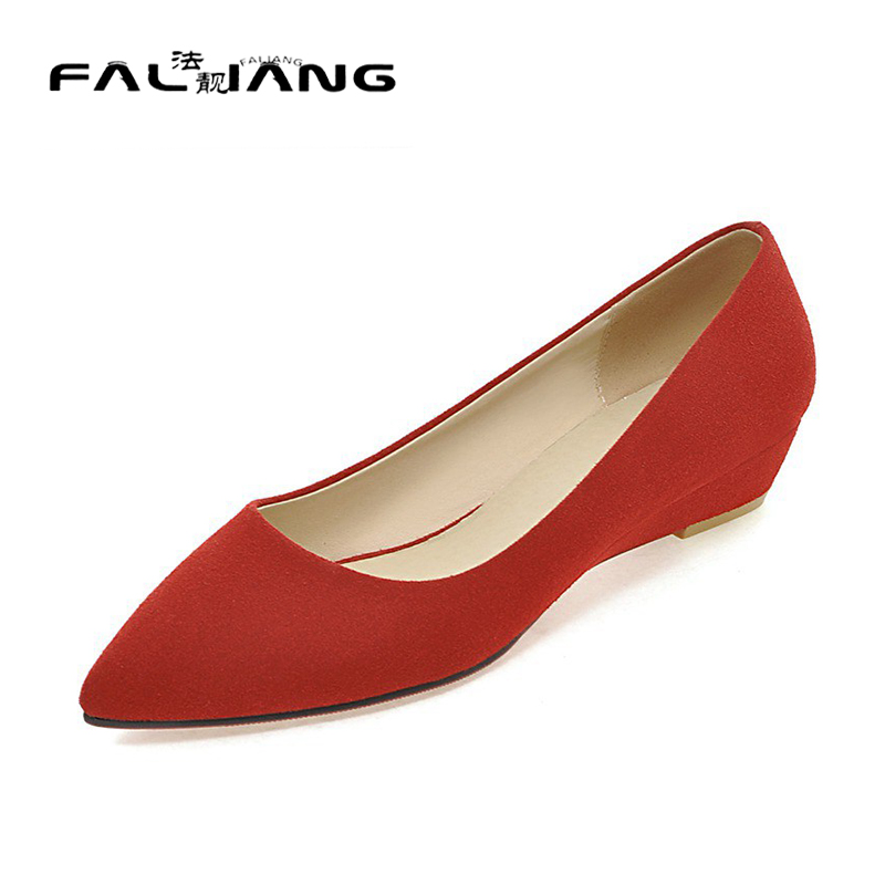 ФОТО 2017 Fashion Women Shoes Woman Flats high quality suede Casual Comfortable pointed toe Rubber Women Flat Shoe New Flats