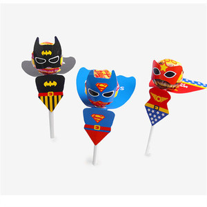 Image 2 - 54Pcs Superhero/Princess Candy Paper Lollipop Decoration Card Kids Birthday Party DIY Candy Gift Supply