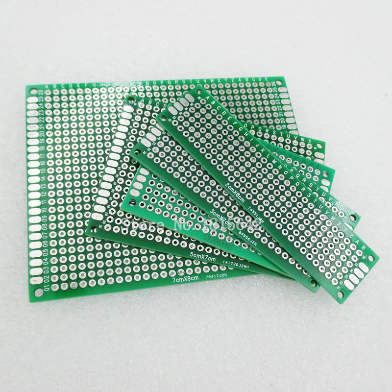 5PCS/Lot PCB Kit 7x9 5x7 4x6 3x7 2x8cm Double Side Copper Prototype Pcb Universal Board Electronic Diy Kit