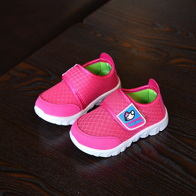 2018 New children breathable net shoes comfortable soft student sport shoes for Kids running shoes boys girls sneakers blue pink 1