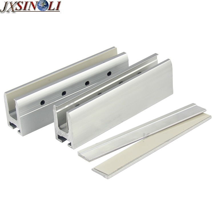 High Strength Aluminum Alloy Automatic <font><b>Sliding</b></font> Glass Door Leaf Hanging Clamps, Glass Door Hang Bracket(2pcs/set)