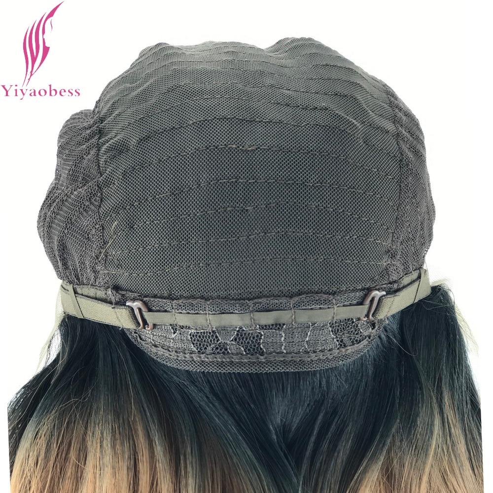 Yiyaobess 14 tums Värmebeständig Kort Bob Paryk För Kvinnor Rak - Syntetiskt hår - Foto 6