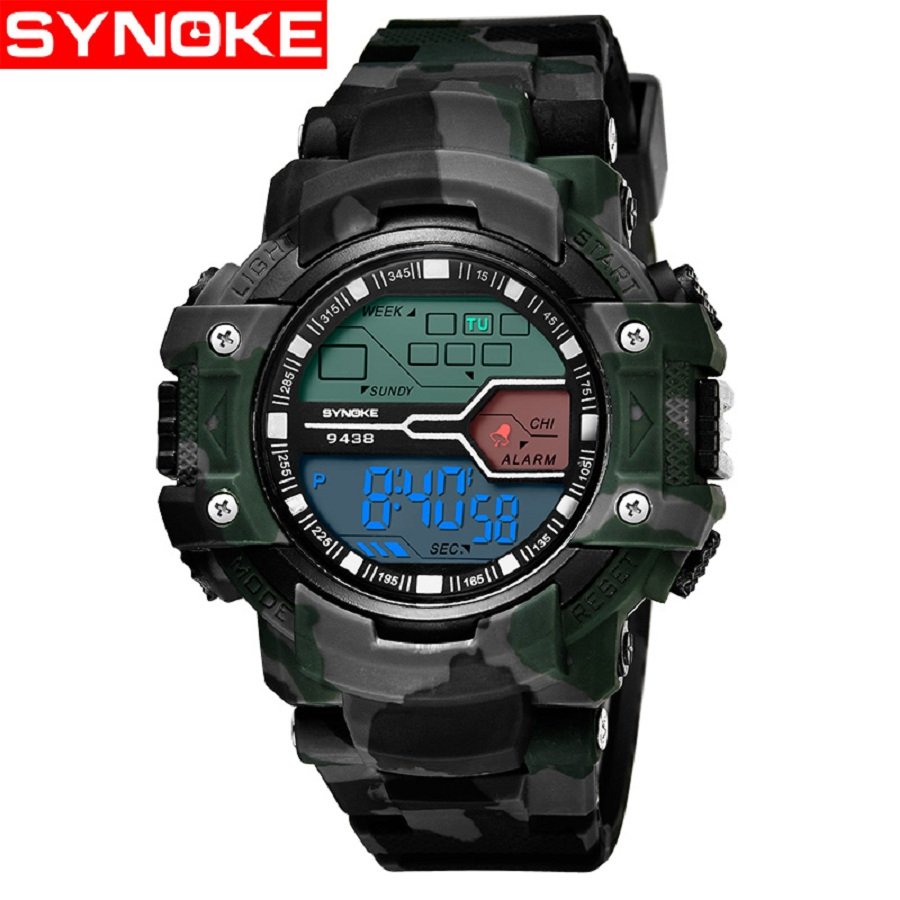 Camouflage Sport Men Digital Watch LED Clock Alarm Stopwatch Wrist Watches for Men Boy Electronic digitale heren horloge Gift
