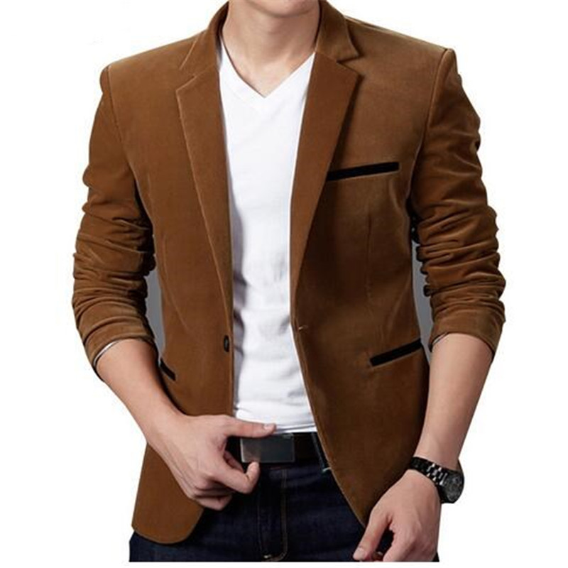 2017 New Arrival Brand Clothing Spring Blazer Men Fashion Slim Fit Masculine Blazers Mens Casual Solid Color Male Suits