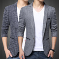 2017 New Arrival Men's Clothing Slim Casual Blazers Solid Turn-Down Collar Long Sleeved Leisure Business Men Blazers Freeshippin