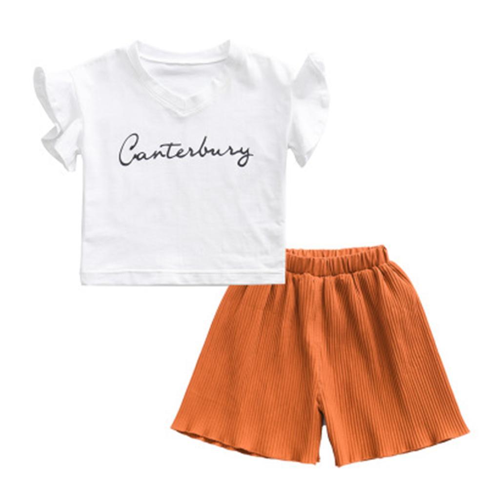 Καλοκαιρινά Κορίτσια Ρούχα Σέτ Νέα Μπλουζάκια Λευκή Μπλουζάκια Λευκά ... d8a9515eb82