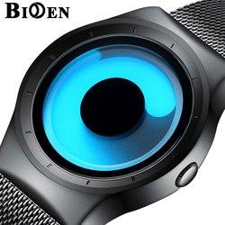 BIDEN kwarcowe zegarki mężczyźni Top luksusowa marka Casual siatka ze stali nierdzewnej wodoodporne 3D kreatywne zegarki dla kobiet mężczyzn zegar prezent|Zegarki kwarcowe|   -