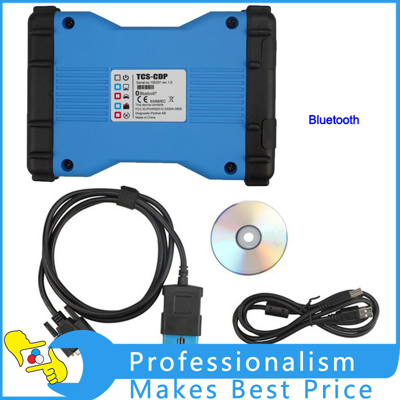 TCS CDP PRO 2014.R2 Software With Bluetooth Support Multi-language Cars Trucks Diagnostic Tool single green board multidiag pro 2014 r2 keygen