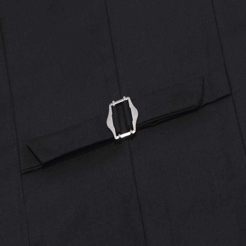 Chaleco de traje para hombre 2019 chaleco sin mangas para hombre Chaleco Ajustado Chaleco de negocios boda clásico Colete Masculino chaqueta Social