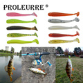 Proleurre 10Pcs/lot 50mm 0.7g Soft Worms Fishing Lures Pesca Wobblers Swimbait Jig Head Soft Lure 10 colors Fly Fishing Bait