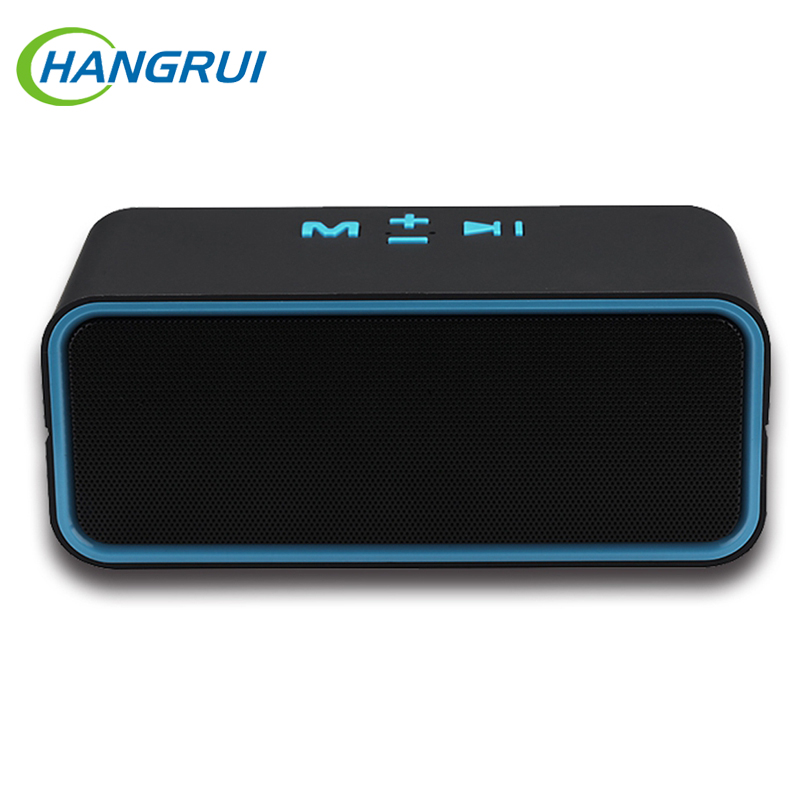 Hangrui C200 Wireless Bluetooth Speaker Mini Portable Handsfree Microphone Speaker Outdoor Subwoofer with TF FM Radio Player