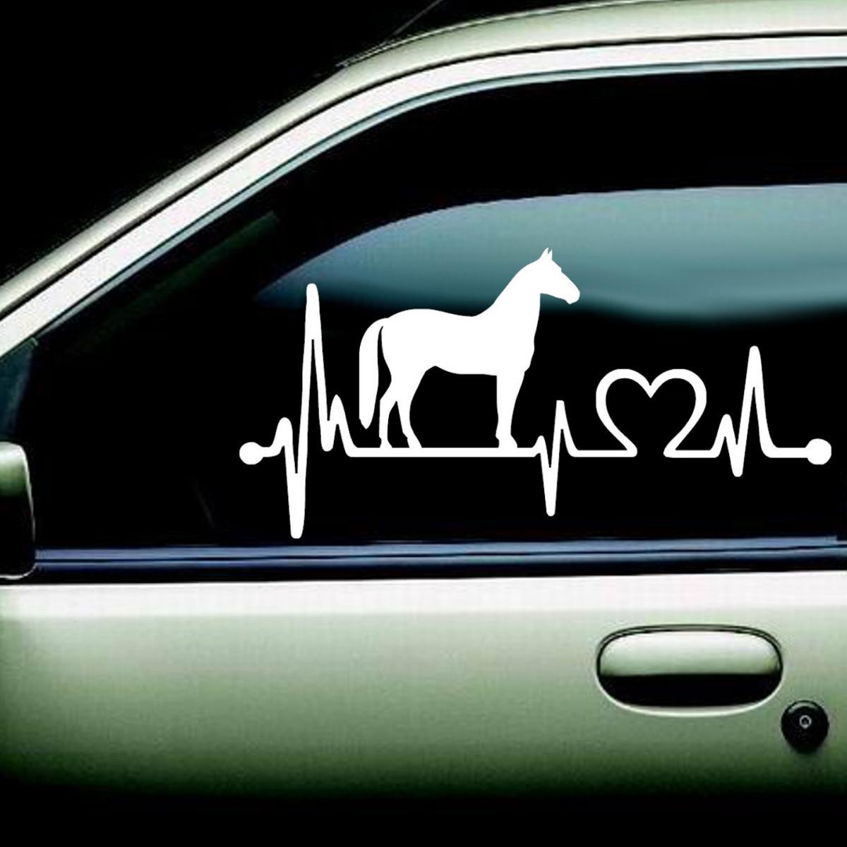 Hot Seller Window Sticker Wall Horse With Cartoon Electrocardiogram