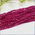Natural Ruby  Precious Stone Small Faceted Round Beads 2mm