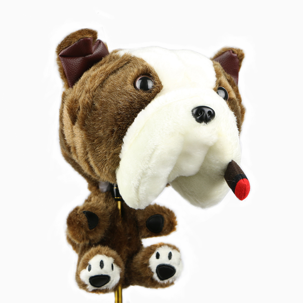 Golf Clubs Head Cover Cartoon Animal Cigar Dogs A Long-eared Dog Pink Pig Three To Options Golf Driver Head Cover