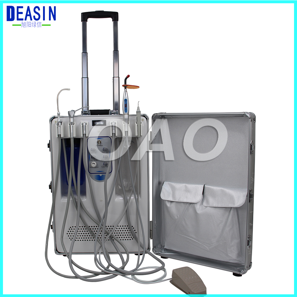 DEASIN Design Portable Dental Unit With Built In Ultrasonic Scaler & Oiless Air Compressor Motor For Dental Hospital, Clinics