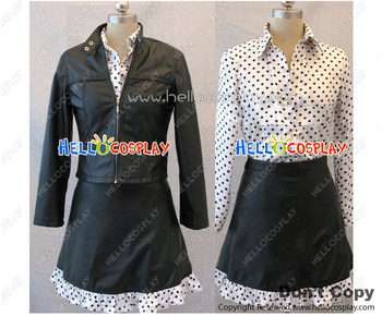 One Piece Nico Robin Cosplay Costume Floral Shirt Black Skirt   H008
