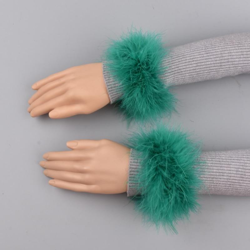 Ostrich Fur Cuffs Genuine Ostrich Fur Cuff Arm Warmer Lady Bracelet Real Fur Wristband Glove Ostrich  Fur Cuffs
