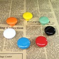 Dia.39mm Round Various Color Retro Ceramic Bedroom Door Cabinet Cupboard Drawer Knob Pull Handle