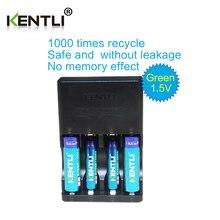 KENTLI 4pcs 1 5v aa aaa 3000 1180mWh Rechargeable Li ion Li polymer Lithium battery