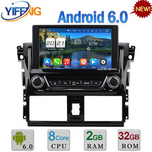 Android 6.0 WIFI 8″ 32GB ROM Octa Core 2GB RAM 4G DAB+ AUX Car DVD Player Stereo Radio For Toyota Yaris 2014 2015 GPS Navigation