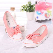 6 Colors  fashion Spring Summer casual Women's Casual shoes Candy color women flat shoes breathable canvas shoesbreathable canva