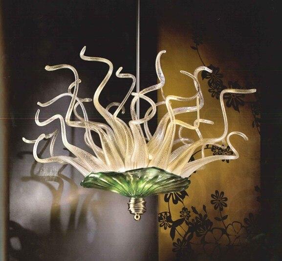 European Modern Murano Glass Chandelier Ceiling Bedroom Living Room Hotel Decor Light Fixture 110 240V|Chandeliers| |  - title=