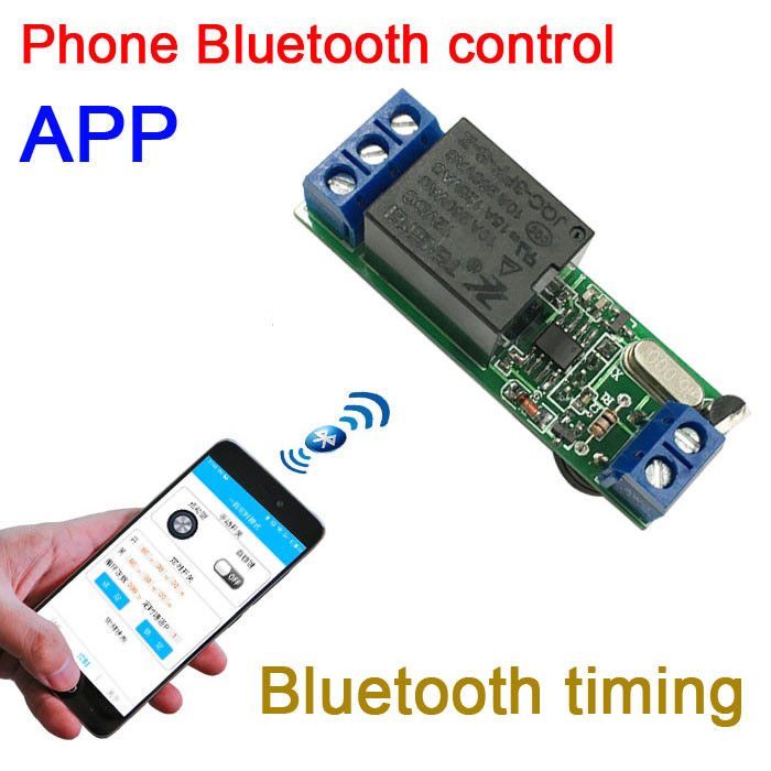 DYKB Android Phone APP Bluetooth timer relay module Bluetooth switch Time module Manual jog self-locking Delay loop DC 12V image