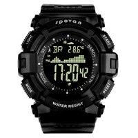 Spovan marca superior silicone esporte homem relógio digital led grande dial fitness à prova dwaterproof água militar qualidade um causal relógio masculino presente saat