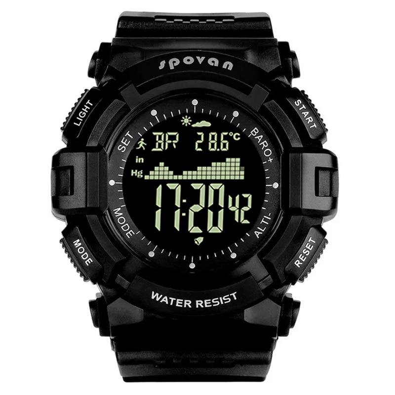 Fitness à Prova Spovan Marca Superior Silicone Esporte Homem Relógio Digital Led Grande Dial Dwaterproof Água Militar Qualidade um Causal Masculino Presente Saat