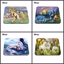 Luxury Print Fantasy Unicorns Gaming Mouse Pad Size 180X220X2MM 250X290X2MM And 25*20cm Lasting Computers and Laptops Mouse Pad