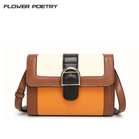 Vintage Retro Ladies Samll Crossbody Messenger Bag Women Brown Leather Shoulder Bags 2016 High Quality Envelope