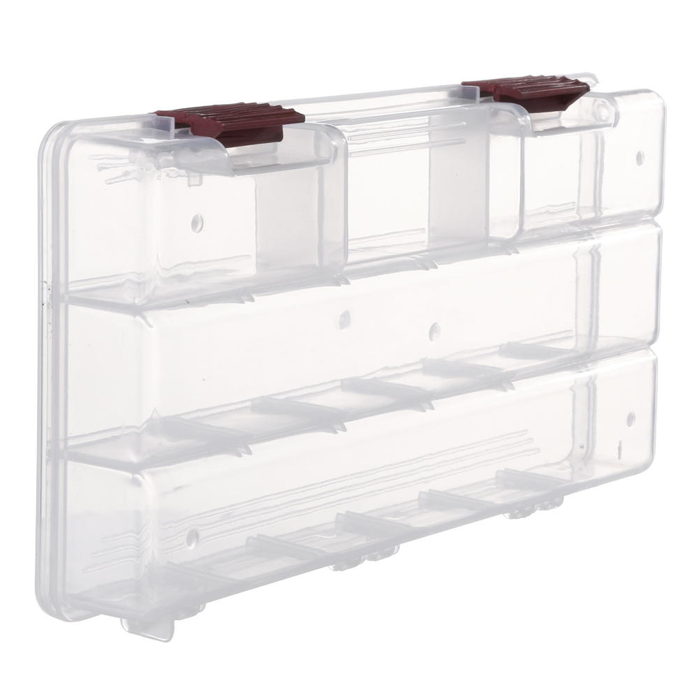 Durable 5 compartments transparent visible plastic fishing for Fishing tackle storage