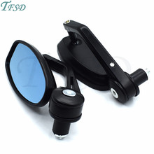7/8 Handlebar End motorbike Mirrors Oval Classic Side moto Racer ATV Motorcycle  Rearview for Suzuki GSR750