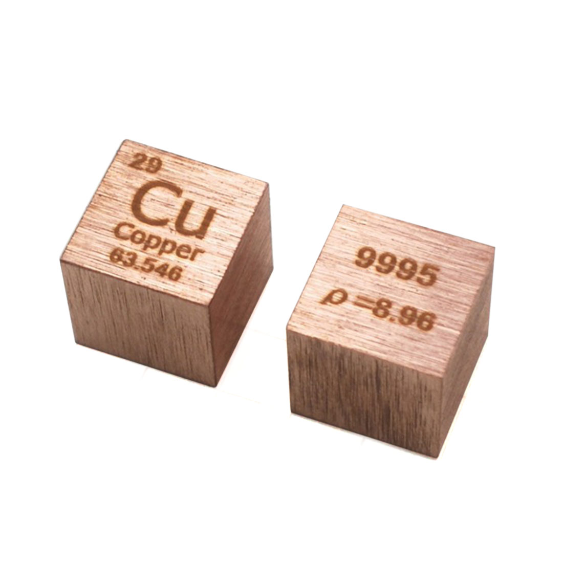 High Pure 10 X 10 X 10mm Wiredrawing Copper Cube Periodic Table Of Elements Cube For Research Study Education (Cu≥99.9%)