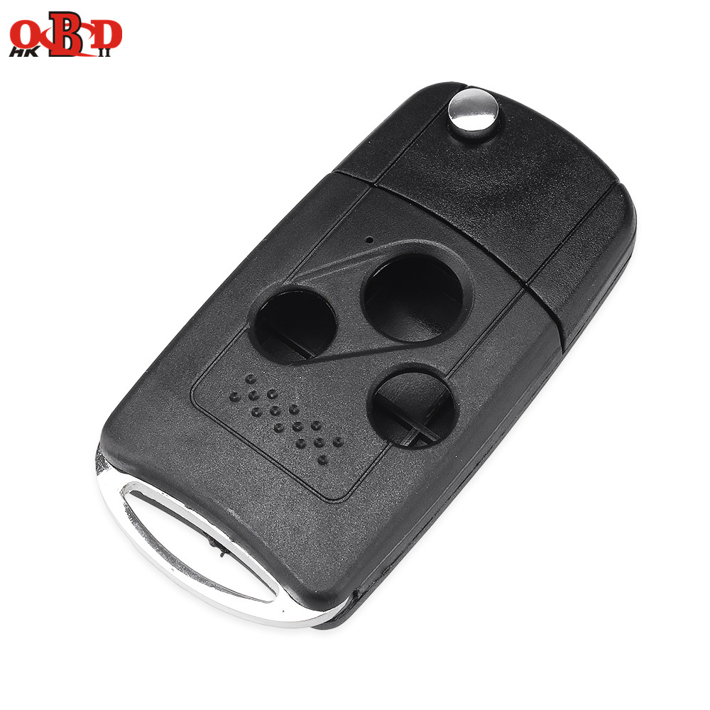 HKOBDII 10pcs 3 Button Modified Remote Case Car Key Shell For Honda Akula with Logo