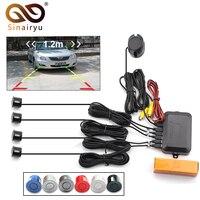 Sinairyu Car Video Parking Sensor Visible Reverse Backup Radar Alarm, Display Image and Sound Alert For Auto Monitor