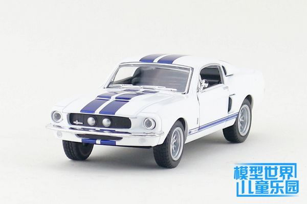 1PC 13cm Wisdom crown 1967 ford mustang GT GT500 cobra alloy car models gifts