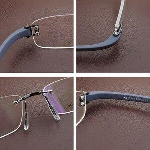 Image 5 - Senza cornice di vetro del telaio uomini TAG di Marca occhiali da vista frames uomini Miopia del computer vetri ottici telaio Ultraleggero movimento occhiali da vista