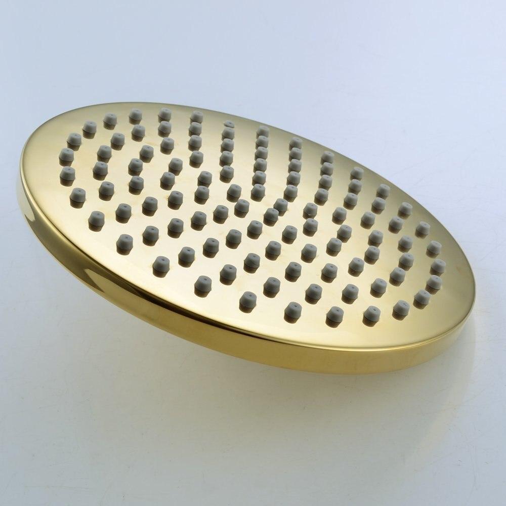 Comprar 8 pulgadas 200mm oro redondo acero inoxidable y ABS lluvia superior rociador de ducha baño Sistemas para duchas ducha de shower head fiable proveedores en MINGHONG-YI Store